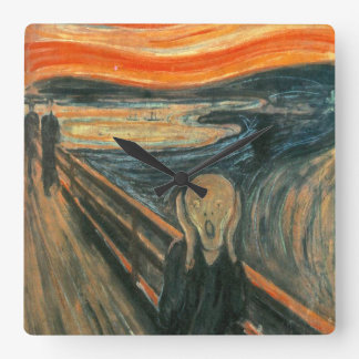 The Scream by Edvard Munch Square Wall Clock