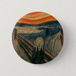 The Scream - Edvard Munch. Painting Artwork. 2 Inch Round Button