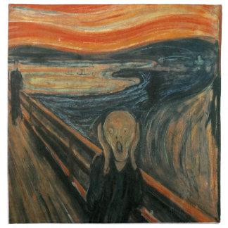 The Scream - Edvard Munch. Painting Artwork. Napkin