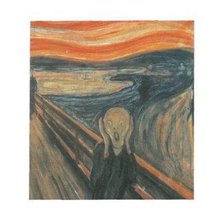 The Scream - Edvard Munch. Painting Artwork. Notepad