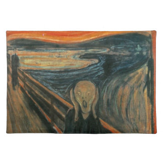 The Scream - Edvard Munch. Painting Artwork. Placemat