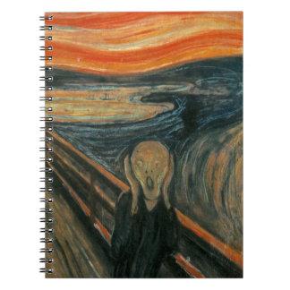 The Scream - Edvard Munch. Painting Artwork. Spiral Notebook