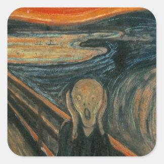 The Scream - Edvard Munch. Painting Artwork. Square Sticker