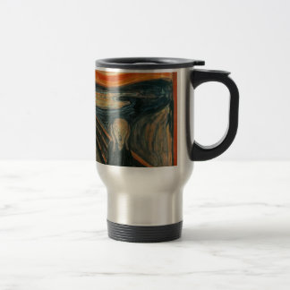 The Scream - Edvard Munch. Painting Artwork. Travel Mug