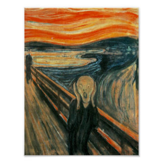 The Scream Edward Munch Screaming Poster