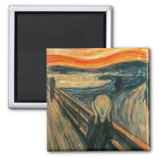 The Scream Edward Munch Screaming Square Magnet