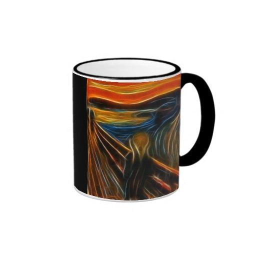 The Scream Fractal Painting Edvard Munch Mug