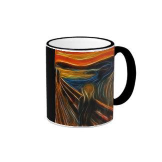 The Scream Fractal Painting Edvard Munch Ringer Mug