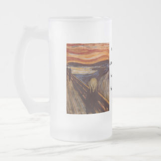 The scream frosted glass beer mug