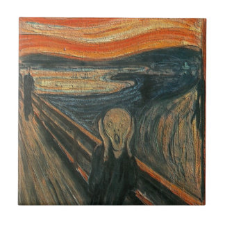The Scream (Textured) by Edvard Munch Tile
