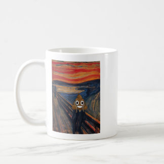 The Scream with Happy Poop Coffee Mug