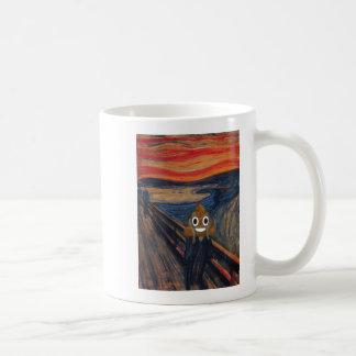 The Scream with Happy Poop Coffee Mug