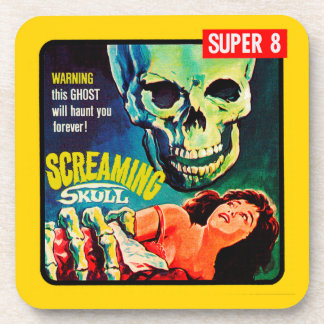 """The Screaming Skull"" 1950s Movie Film Box Drink Coaster"