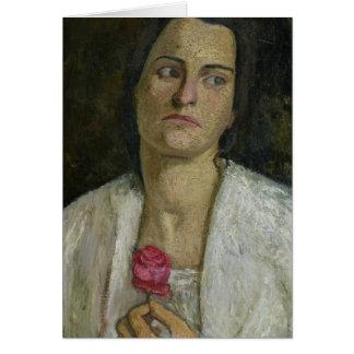 The Sculptress Clara Rilke-Westhoff  1905 Card