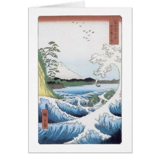 The Sea At Satta, Hiroshige, 1858 Card