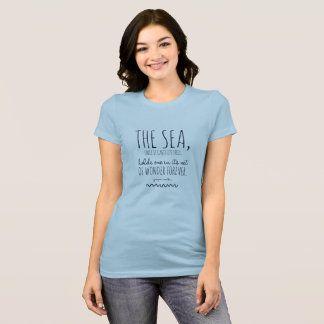 The sea casts its spell t-shirt