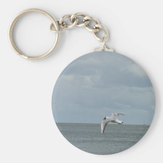The sea gull and the sea keychain
