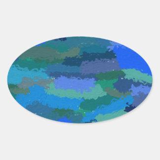 The Sea Oval Sticker