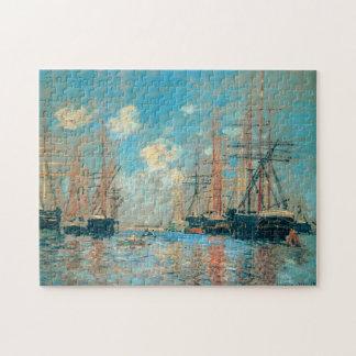 The Sea Port in Amsterdam Monet Fine Art Jigsaw Puzzle