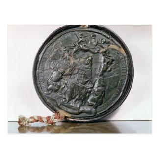 The seal of King Charles II Postcard