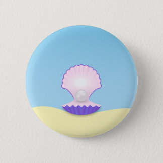 The Seashell 2 Inch Round Button