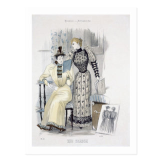 The Season, fashion plate for 'The Queen', Septemb Postcard
