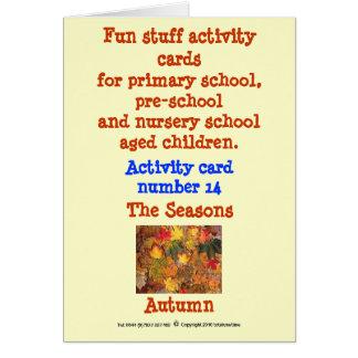 The Seasons - Autumn Card