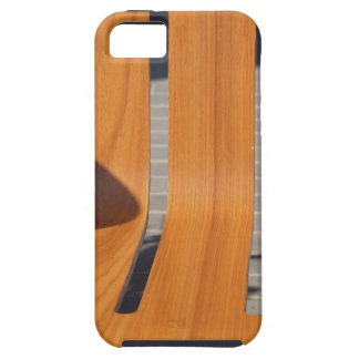 The seat is wooden benches on the street closeup iPhone 5 covers