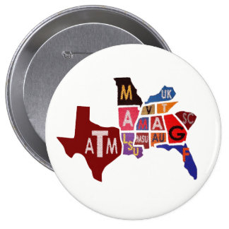 The SEC South Eastern Conference Teams 4 Inch Round Button