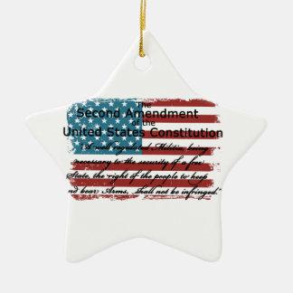 The Second Amendment Ceramic Star Ornament