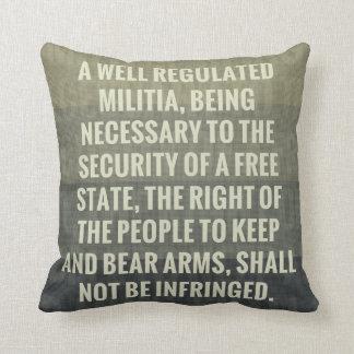 The Second Amendment Throw Pillow