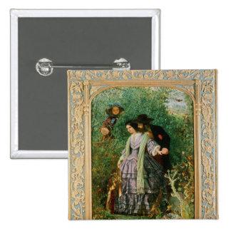 The Secret, 1858 2 Inch Square Button