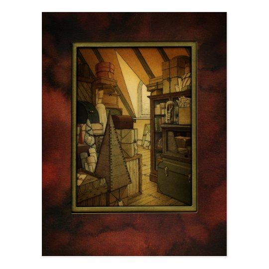 The Secret Box Room Art Postcard