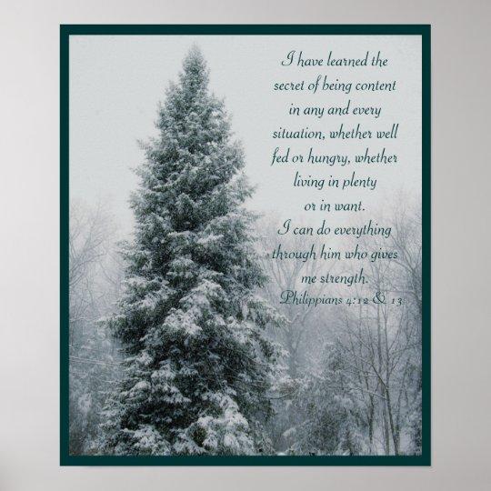The Secret Christian Winter Scene Poster