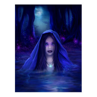 The secret lake - pagan, wiccan fantasy card post