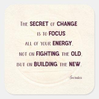 The Secret of Change Square Sticker