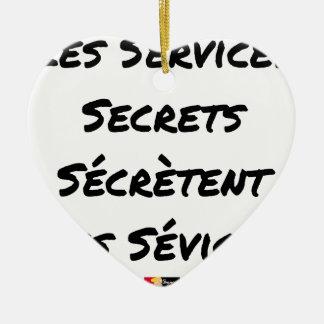 THE SECRET SERVICES SECRETE MALTREATMENT CERAMIC ORNAMENT