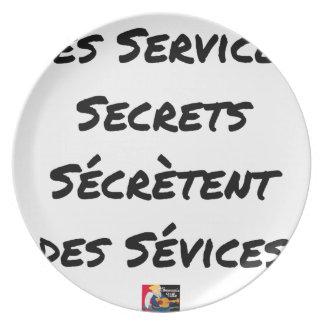 THE SECRET SERVICES SECRETE MALTREATMENT PLATE