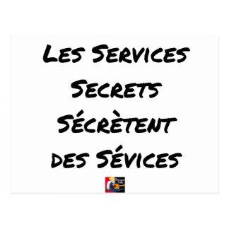 THE SECRET SERVICES SECRETE MALTREATMENT POSTCARD