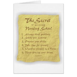The Secret to Surviving Nursing School Card