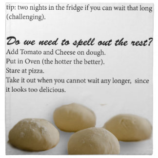 The Secrets of Pizza Napkin