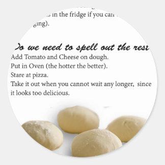 The Secrets of Pizza Round Sticker