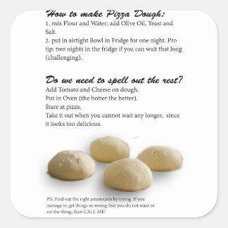 The Secrets of Pizza Square Sticker