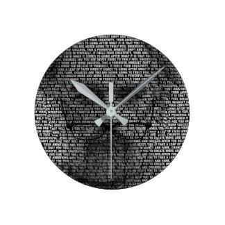 The Secrets of Success Round Clock