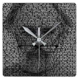 The Secrets of Success Square Wall Clock