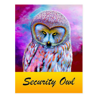 The Security Owl Postcard
