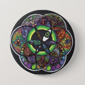 The Seed 3 Inch Round Button