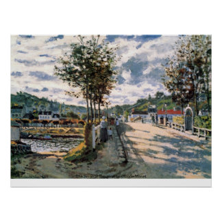 The Seine at Bougival by Claude Monet Poster
