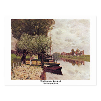 The Seine At Bougival By Sisley Alfred Postcard