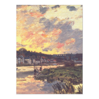 """The Seine at Bougival in the Evening 6.5"""" X 8.75"""" Invitation Card"""